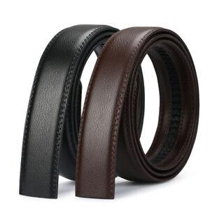 Luxury-Men-039-s-Automatic-Buckle-Belt-Strap-Black-Brown-Leather-Ratchet-Strap-Jeans