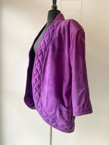 Vintage EMANUEL UNGARO Quilted Purple Suede Leathe