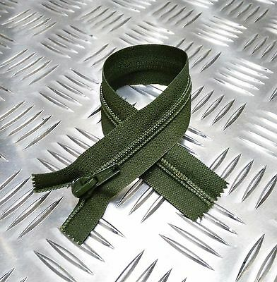 Genuine Vintage British Military Metal Zip Zipper NZ or CLIX Open or Closed End