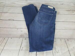 Adriano-Goldschmied-Blue-Prima-Mid-Rise-Cigarette-Skinny-Women-Jeans-Size-27R