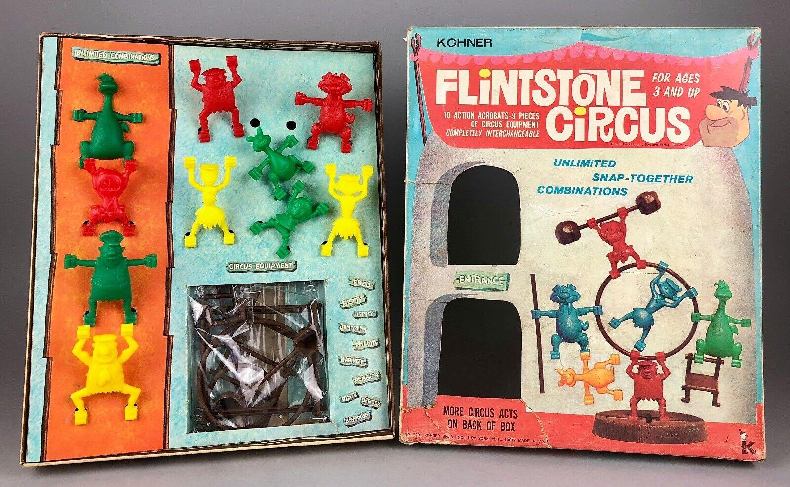 KOHNER BROS -FLINTSTONE CIRCUS- VINTAGE ACROBAT BOARD GAME PLAY SET 228 -BOXED-