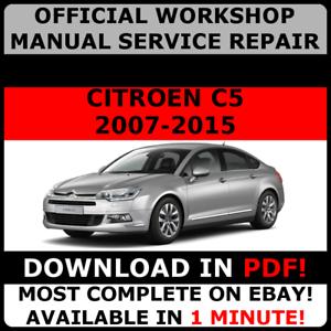 Citroen C5 workshop manual Free download