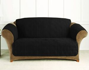 Quilted Microfiber Loveseat Cover Throw Pet Dog Kids Furniture Protector Black Ebay
