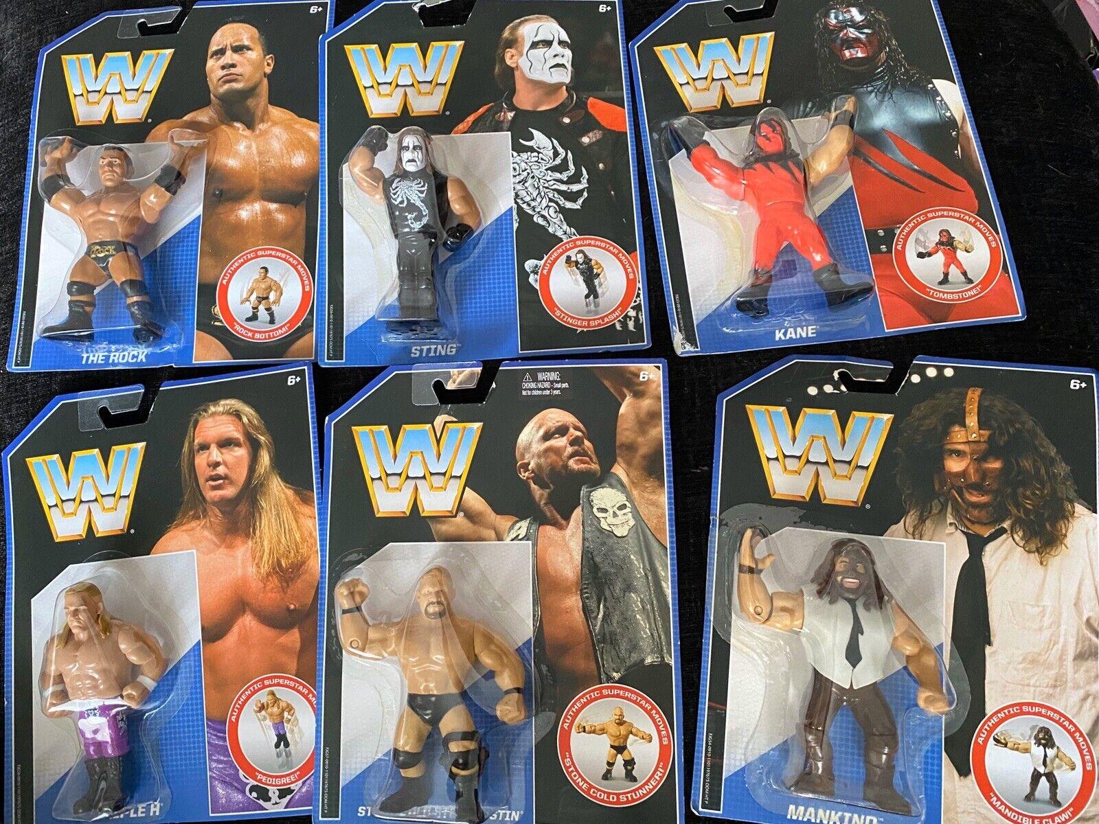 WWF WWE Retro Mattel Hasbro Wrestling Figures Bundle Joblot Complete Series 2...