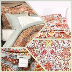 Image Is Loading POTTERY BARN Bella Paisley Duvet Cover Queen Full