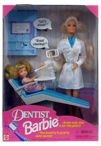 BARBIE - Poupee Dentiste parlante 1997 talking Dentist blonde Mattel neuve Misb