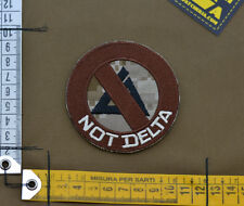 "Ricamata / Embroidered Patch Devgru ""Not Delta"" with VELCRO® brand hook"