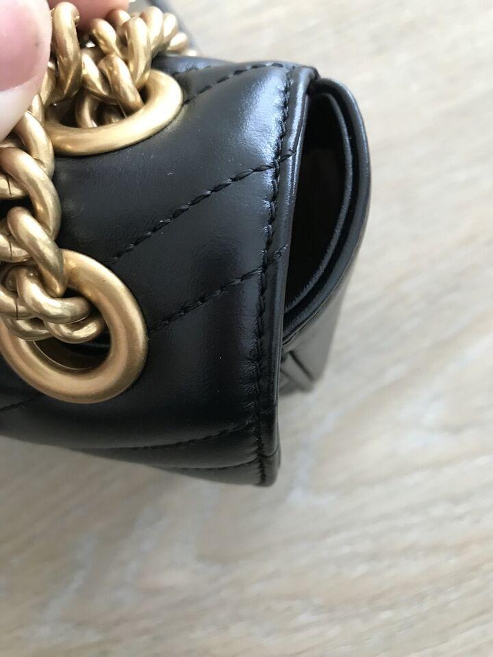 Skuldertaske, Gucci, læder