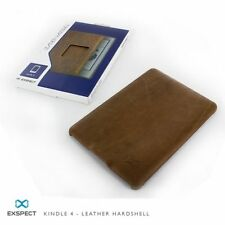 Exspect *REAL BUFFALO LEATHER* Hard Case Shell Cover *for Kindle 4th + 5th Gen*