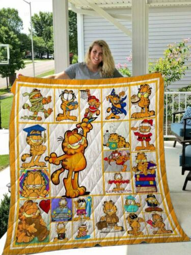 Fleece blanket Printing in US Details about  /GARFIELD Funny Version 1 Quilt