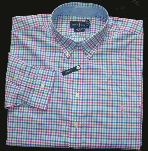 f703fcd8 New 3XLT 3XL TALL POLO RALPH LAUREN Men button down dress shirt pink 3XT top  19