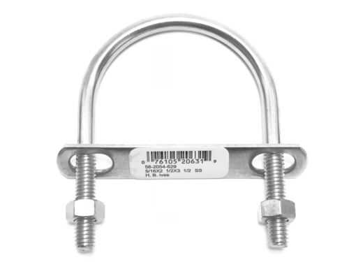 """10 pcs Stainless Ubolts 5//16 x 2 1//2 x 3 1//2 IVES Schlage 2/"""" Pipe Clamp w// Nuts"""