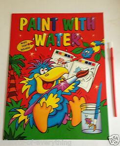 Image Is Loading Paint With Water A4 Book Amp Brush Colouring