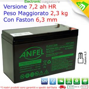Batteria ricaricabile al piombo 12V 1,2Ah attacco faston 4.8mm Per allarmi antifurti sicurezza videosorveglianza