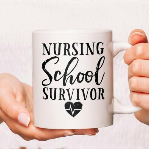 Nursing School Survivor Coffee Mug Nurse Mugs Nursing Graduate Coffee Mug