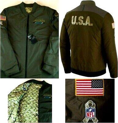 Nike NFL Salute to service Réversible Veste Aviateur Jacksonville Jaguars 200 $ | eBay