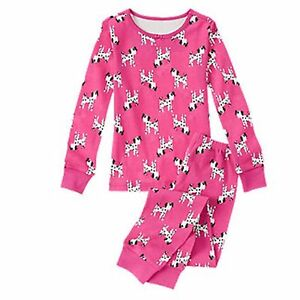 Sz 3 Cooperative Gymboree Pink Dalmation Dog Gymmies 2 Piece Pajamas Nwt