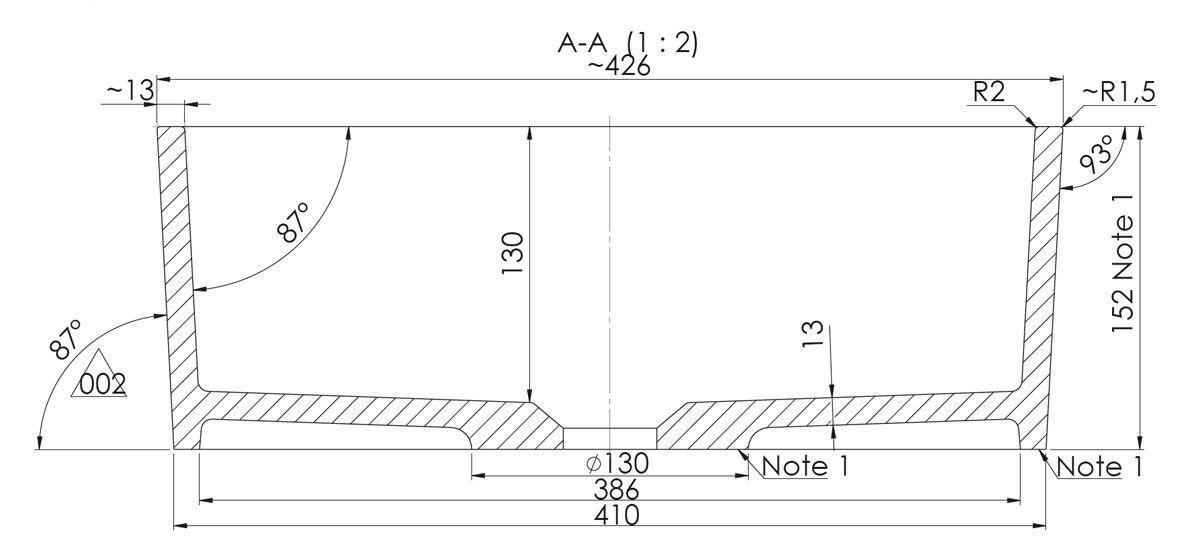 Lavabo quadrato Ponsi Ponsi Ponsi serie Sharp 426 mm x 426 mm x 152 mm H Bianco lucido e46c28
