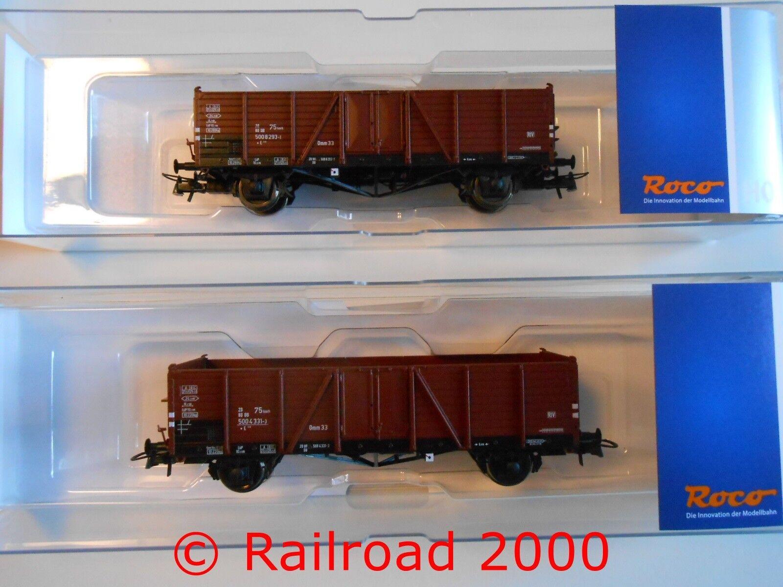 Roco 76107 set  2 piezas de vagones abiertos DB, Villach, nuevo + embalaje original