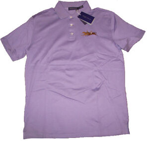 265 ralph lauren purple label mens italy equestrian logo for Ralph lauren black label polo shirt