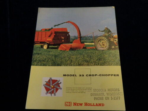 1960 New Holland 33 CropChopper Farm Equipment Color Advertising Brochure Q298