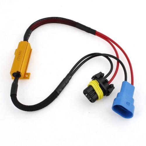 Wire HID Resistor Canceler Error Decoder 9005 HB3 Head Light Dual Beam Flicker