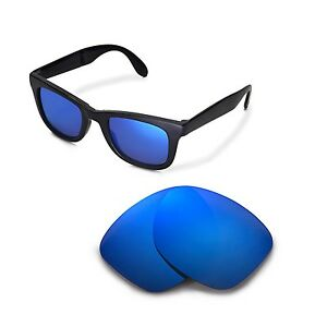 919d1aac636 Details about New Walleva Polarized Ice Blue Lenses For Ray-Ban Wayfarer  RB4105 50mm