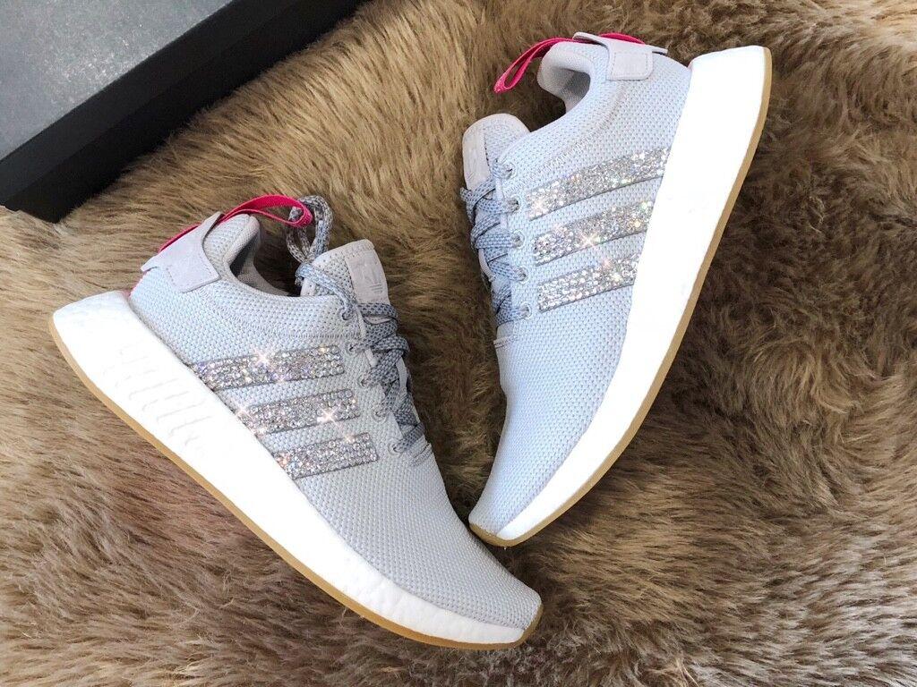 887aaa8736b202 Crystal WMNS Adidas NMD R2 Sneaker Gr. 40 2 3 Luxus Sneaker R2 Bling mit  Swarovski Elements 255e32