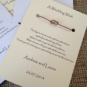 Image Is Loading Wedding Wish Bracelets Favours Infinity Knot Table