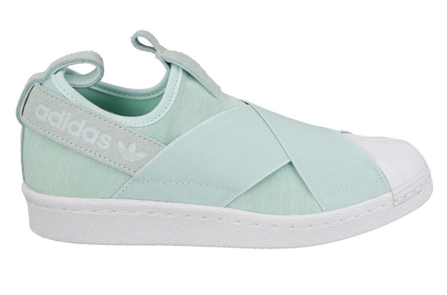 Adidas Originals Women's SUPERSTAR SLIP-ON W Shoes Mint S76407 a