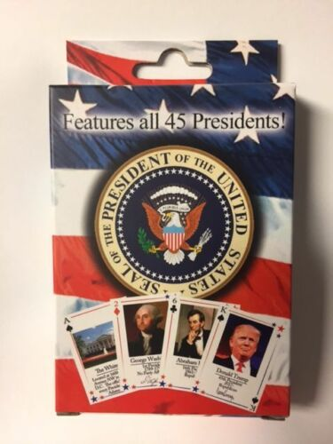LOT OF 5 PRESIDENTS OF THE UNITED STATES PLAYING CARDS INCLUDES TRUMP