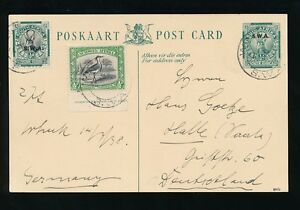 SOUTH WEST AFRICA 1937 SPRINGBOK STATIONERY UPRATED SWA + BIRD IMPRINT 1/2d
