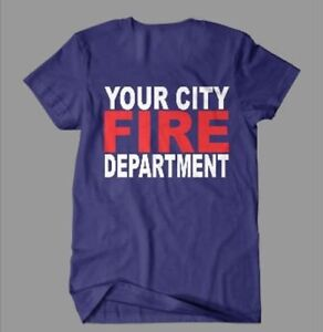 Personalized Fire Fighter Fire Department T Shirt Custom Tee Shirt