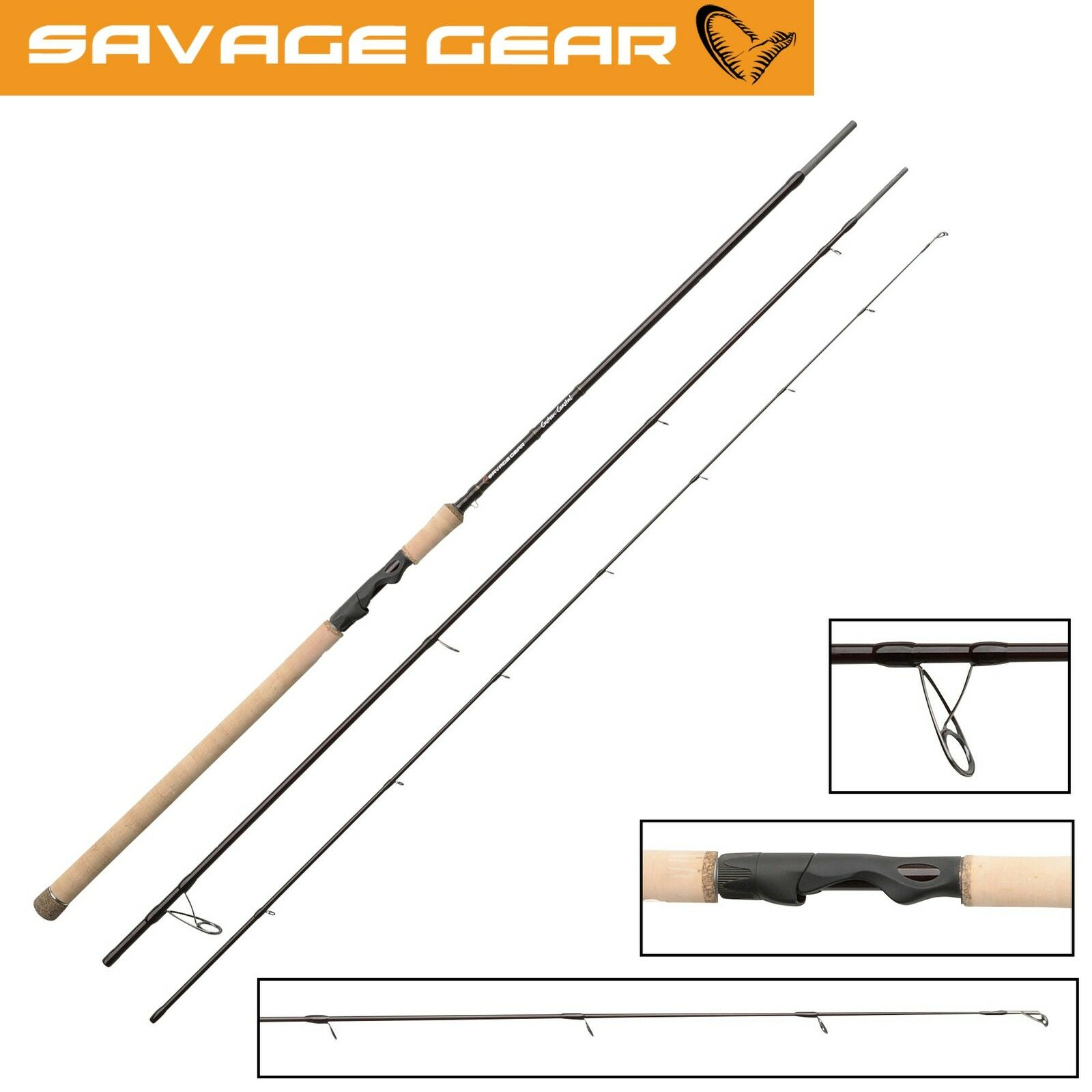 Savage Gear Coastal Custom Coastal Gear Spin 320cm 10-36g, Spinnrute zum Meersangeln 384347