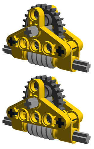 technic,mindstorms,nxt,gearbox,worm,ev3,yellow,robot 2 Lego GEAR  REDUCERS