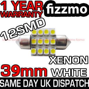 12-SMD-LED-239-272-38mm-39mm-WHITE-NUMBER-PLATE-INTERIOR-DOME-LIGHT-FESTOON-BULB