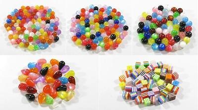 Resin Harz Perlen Rund Tropfen Würfel vers. Formen zur Auswahl im Farbmix