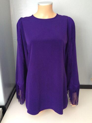 M Taglia Purple Meduim Love 10 Lola Tassel Dress 12 Uk wq6Pfpxx