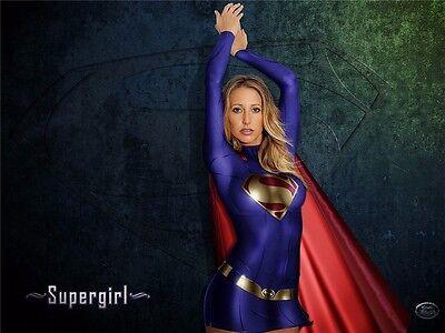 "Supergirl Melissa Benoist Season 1 Hot USA Girl Hero TV 32/""x24/"" Poster S018"