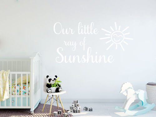 vinyl transfer. wall art sticker quote Our little ray of sunshine
