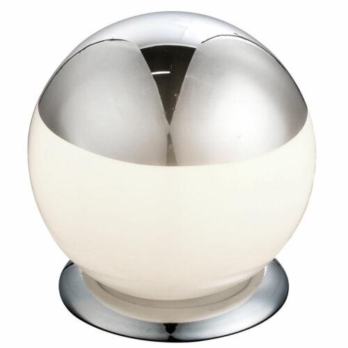 Design Tisch Beleuchtung Glas Kugel Wohn Ess Zimmer Strahler Lese Leuchte silber