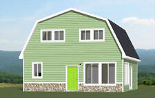 28x32 House -- 5 Bedroom 2 Bath -- PDF Floor Plan -- 1,544 sq ft -- Model 4D