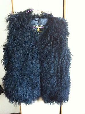 Real Domestic mongolian lamb fur vest gilet Sleeveless waistcoat jacket coat new