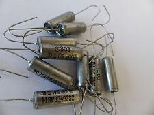 10x Vintage-Kondensator  0.33 µF / 200V NOS, Glas-Sealed, Typ 118P33492S2