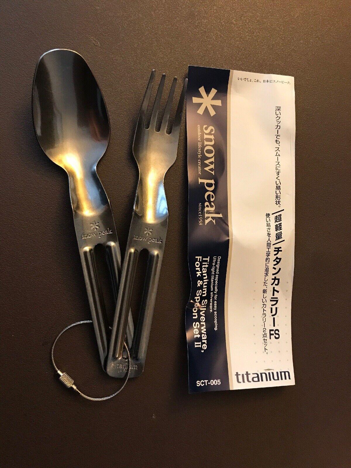 1Pc Ultralight Outdoor Camping Titanium Spork Titanium Spoon Fork Silver  WA