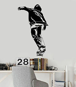 Image is loading Vinyl-Wall-Decal-Skateboard-Teen-Room-Street-Style-  sc 1 st  eBay : skateboarding wall decals - www.pureclipart.com