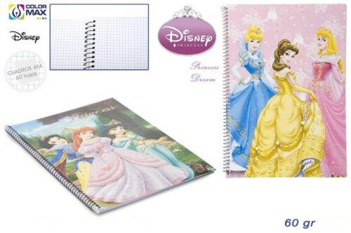 Disney Princess Collegeblock A4 Schule Geschenk Schreibwaren Schreibblock Block