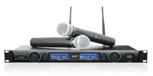 Technical-Pro-WM1201-Professional-2-Channel-UHF-Dual-Wireless-Microphone-System