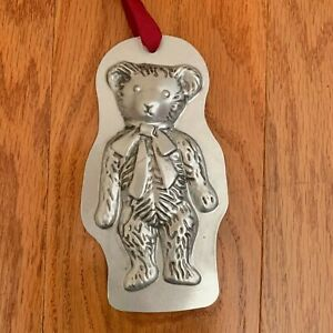 G VTG CHRISTMAS ORNAMENT METAL TEDDY BEAR CANDY MOLD ...