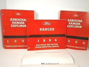 1994 Ford Aerostar, Ranger, Explorer Service Shop Repair ...
